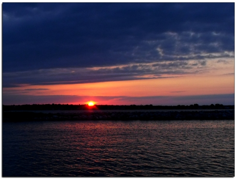 Summer sunset west of Lincoln Nebraska