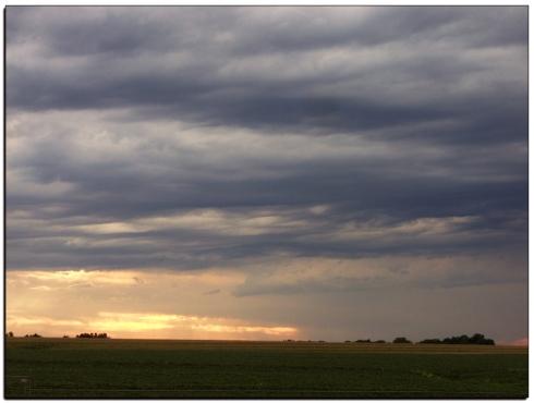 Rain clouds in Nebraska