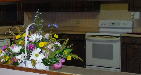 Our wedding flowers given to us by Josephine, a dear friend of the family, kinda like my second Mom.
