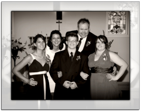 Family Wedding Picture, Black and White