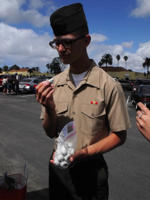 New Marine at MCRD San Diego