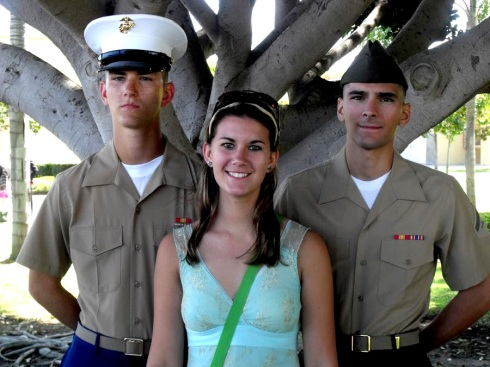 Two U.S.Marines and a Sister