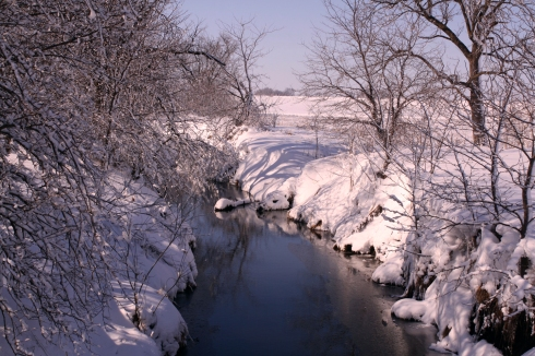 Nebraska snowy creek