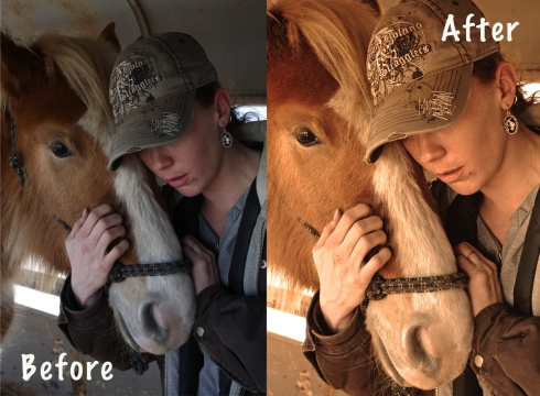 Before and After, A Girl and her Horse