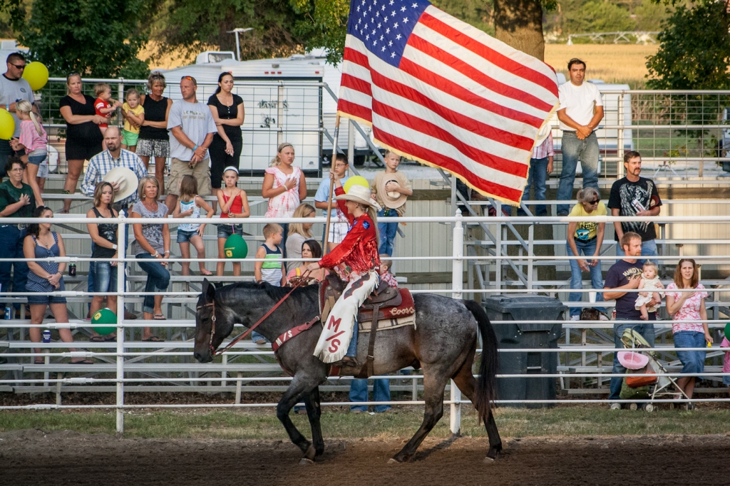 Patriotism is Strong at the Opening of a Rodeo