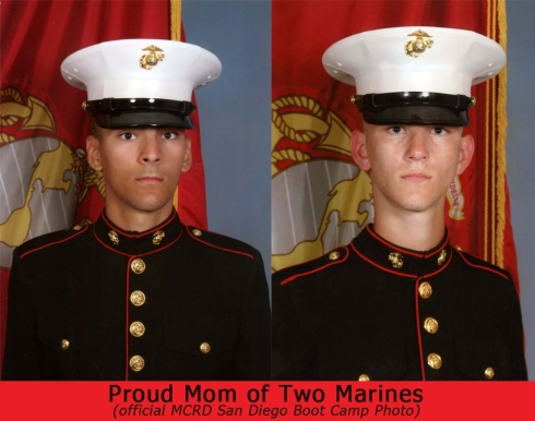 Proud Mom of two US Marines
